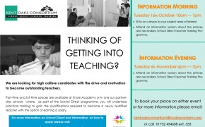 16 Oct & 6 Nov Teacher Training Open Events - Knole Academy